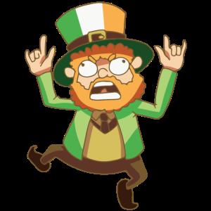 Kobold Fabel Leprechaun Flagge Ireland Geschenk