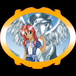 Mädchen und Pegasus