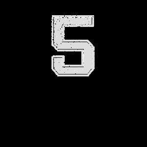 Nummer 5 Zahl Fünf Geschenk