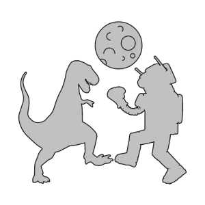 Dinosaurier gegen Robot Boxing Gamers Schlacht Geschenk