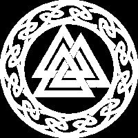 Vintage Valknut Odin Symbol Wikinger Zeichen Pagan