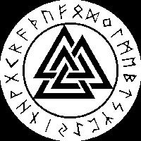 Valknut Vikings Odin Thor Vintage Symbol Zeichen