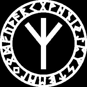 Algiz Runen Kreis Vikings Odin Thor Asgard Celtic