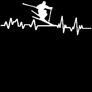 Heartbeat Ski Alpin T-Shirt Sport Wintersport