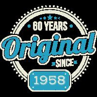 60 Geburtstag / Jahre: Original seit 1958 Geschenk