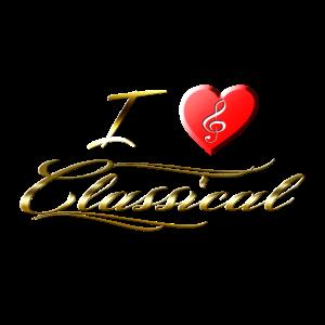 I love Classical Herz Notenschlüssel