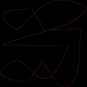 Abstrakte Figur mit Sonnenbrille schwarz weiß