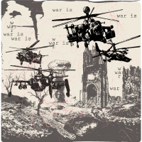 Kriegsszene