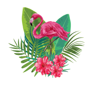Flamingo, Blumen, Natur; Stylische Geschenkidee