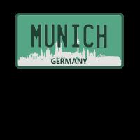 Munich Germany USA Kennzeichen Design