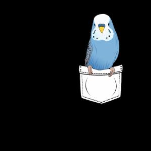 Wellensittich Brusttasche Geschenk Cartoon Kawaii
