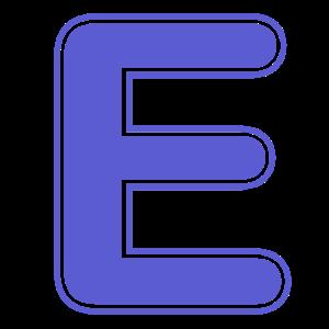 E Buchstabe Alphabet Name Buchstabieren Geschenk
