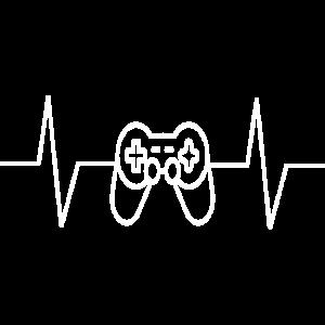 Lustiges Video Gamer Herzschlag-Geschenk-T-Shirt