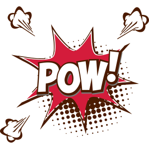 POP ART Design Kunst POW! T-Shirt 19050er 1960er
