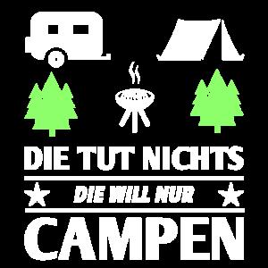 Camping Campen Frauen Grill Zelten Geschenk