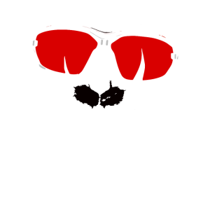 Coller techno Affe mit Brille