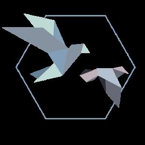 Beste Tochter Origami Vögel