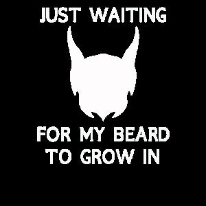 Lustiges Just waiting Beard Geschenk für Männer