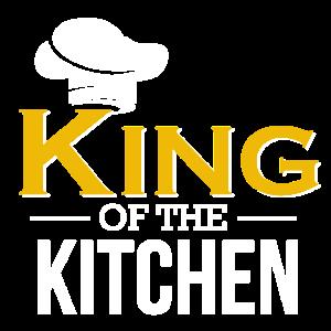 King of the Kitchen - Koch Shirt Geschenk Kochen