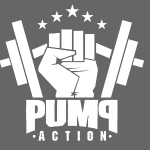 PUMP-ACTION LOGO WHITE