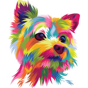 Popart Comic Hund Yorkshire Terrier Yorkie