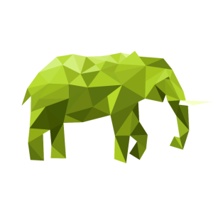 elefant grün