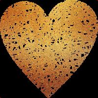 Herz - Gold - Liebe - Geschenk - Geschenkidee