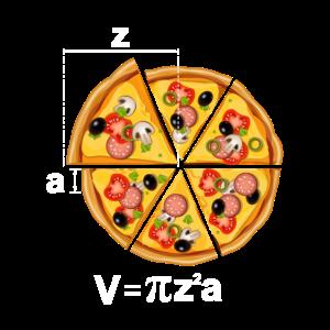 Pizza Motiv Mathe Radius