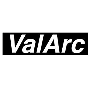 ValArc Text Merch Black Background