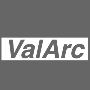 ValArc Text Merch White Background