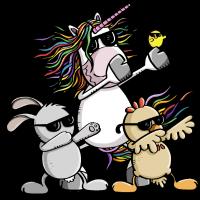 Dab Dance Oster Team - Einhorn - Huhn - Osterhase