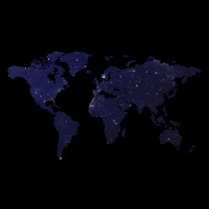 Weltkarte - Nachthimmel