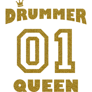 Schlagzeugerin - Drummer Queen - Gold Style