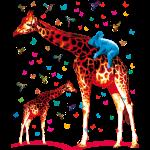02 Giraffen, Koala, Kolibris, Schmetterlinge