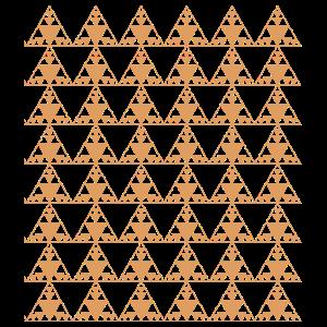 orangefarbene Dreiecke