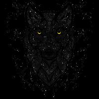 Wolf mit gelben Augen
