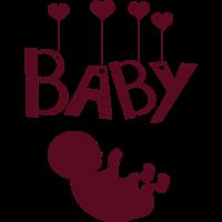 Baby mit Herzen
