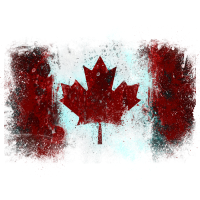 Kanadische Flagge Graffiti