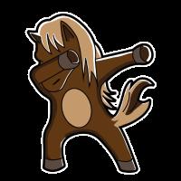 Pferd dabbing horse