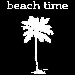 beach time - T-Shirt weiß Design