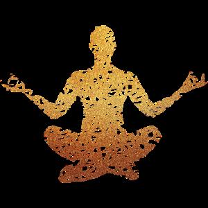 Fitness Yoga #1 Gold Geschenk Geschenkidee