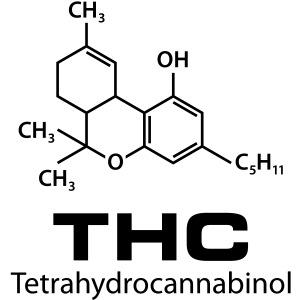 Thc Cannabis Terahydrocannabinol Kiffen Gras Männer Premium T Shirt