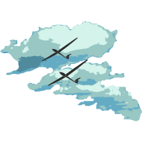 Wolken Segelflieger Geschenk Pilot Streckenflug