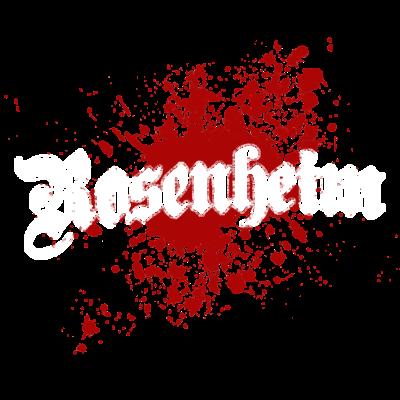 Rosenheim - Rosenheim - Geschenk für alle Rosenheimer - Rosenheimer,splash,Lieblingssatdt,Stadt,Deutschland,Rosenheim,klecks,tourist,tourismus,Heimatstadt,Heimat,Bayern,geschenk,splatter,farbklecks