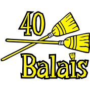 40 balais...et des messages !  Anniversaire 40 ans : cadeau, citation, carte,