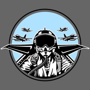 Jet Pilot / Kampfpilot 01_weiß Schwarz