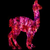 Lama Alpaka #1 Pink Geschenk Geschenkidee