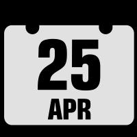 25 april jahrestag geburtstag 2c