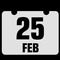 25 februar jahrestag geburtstag 2c