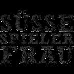 Suesse Spieler-Frau Schwarz